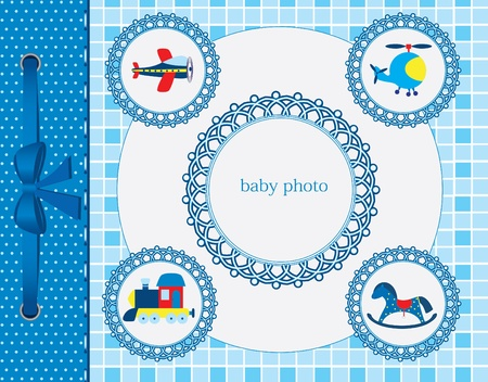 the album announcement: Baby greeting card. Frame for your text or picture
