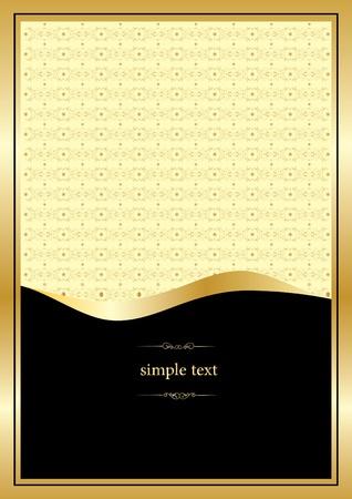 golden vintage template Vector