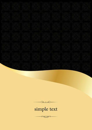 golden vintage template Vector