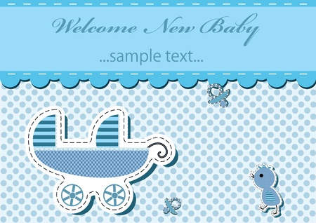 Twins Boys arrival announcement card .vector illustration Vector