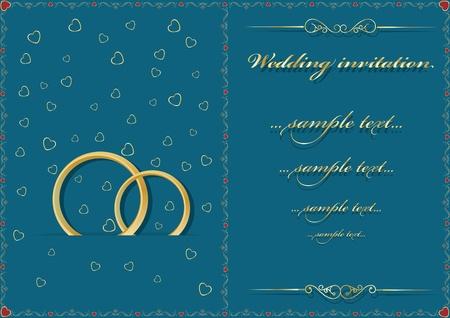 announcement message: Wedding card. Vector illustration Illustration