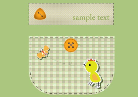 nether: cute application on the pocket . Vector illustration