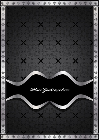 ancient luxury silver frame  Vector