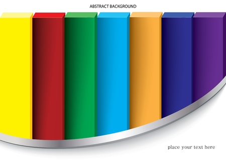 colorful abstract background - illustration  Vector