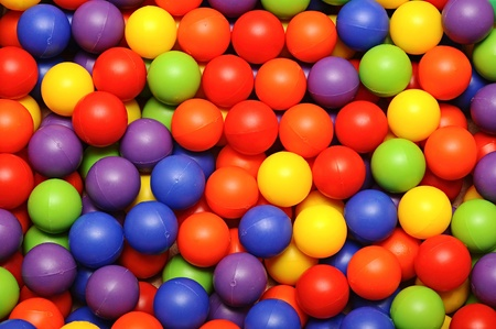 playcentre: Background, colorful plastic balls on children