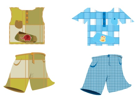 Baby clothes - vector color illustration Vector