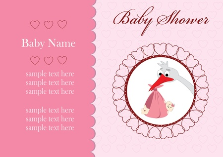 the album announcement: Baby shower - card template Illustration