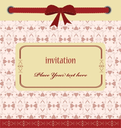 greeting card with ribbons  perfect as invitation or announcemen Vector