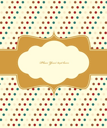 Polka dot design frame Stock Vector - 12492409