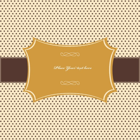 Vintage card, polka dot design Stock Vector - 12492416