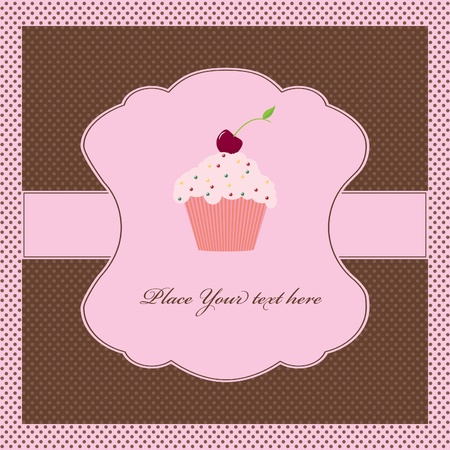 Cupcake card template Vector