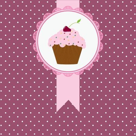 verjaardagskaart met kersen taart