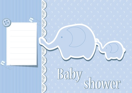 Baby boy card  Baby shower  Vector