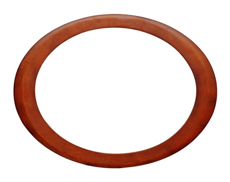 Oval wood picture frame with a decorative pattern Stock Photo - 12893061