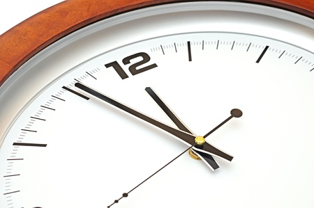 timely: close up of wall clock Stock Photo