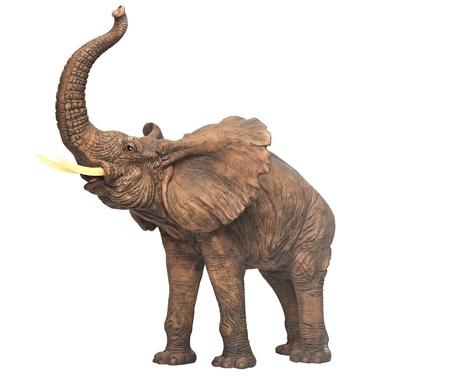 Gipsskulptur Elefanten isoliert über weiß