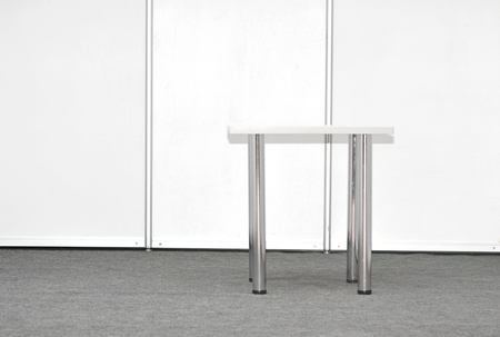Exhibition stand with table Stock Photo - 12893095