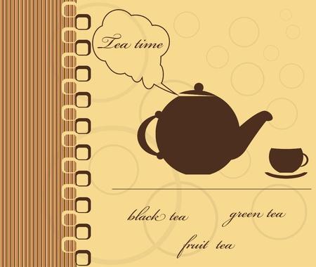 tea time  vector illustration Stock Vector - 12880643