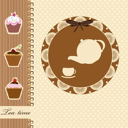 tea time  vector illustration Stock Vector - 12880637