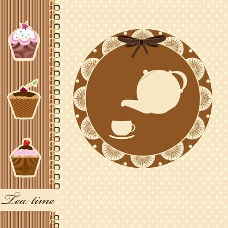 tea time  vector illustration Vector