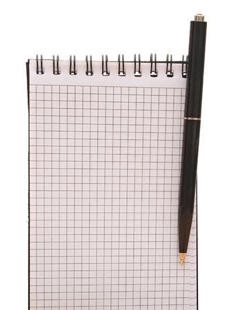 spiral notebook with pen Stock Photo - 13210435