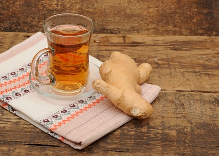cup of ginger tea - food and drink  photo