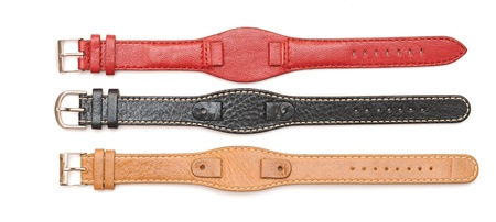 waistband: Strap On A Wristwatch isolated on white