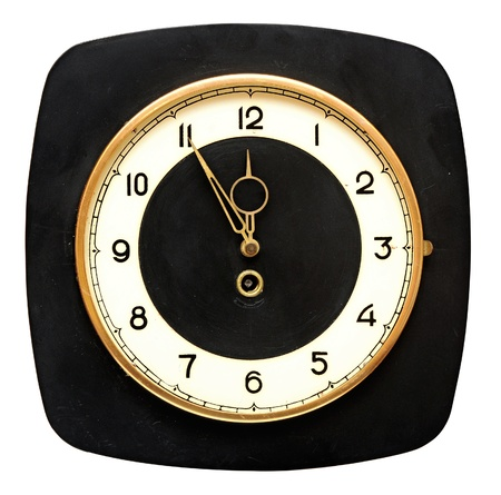 retro wall clock isolated on white background  photo