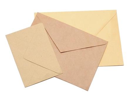 envelopes isolated on white