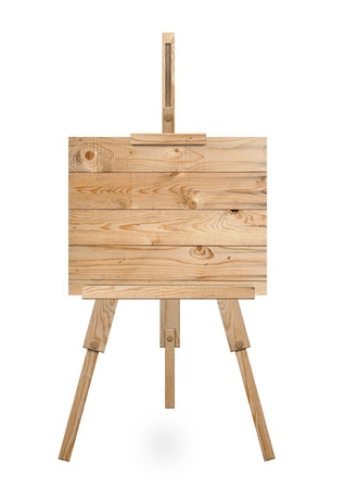 Isolated easel with empty canvas Stock Photo - 13406152