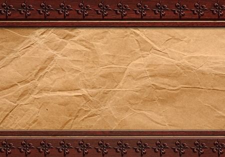 Paper on wood background or texture  photo