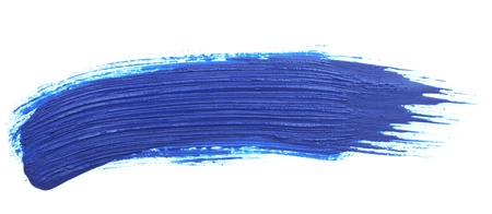 brush paint: blue stroke of the paint brush isolated on white Stock Photo