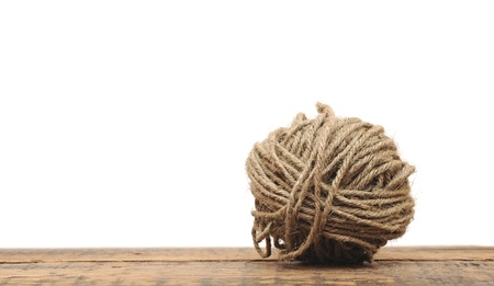 ball of yarn for knitting isolated on white background  Stock Photo