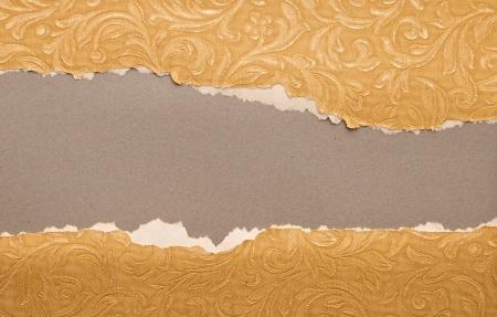 gescheurd papier: gescheurd oud papier textuur, element voor ontwerp