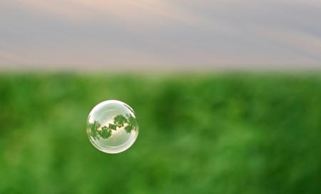 Single soap bubble Stockfoto