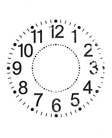 mediodía: Reloj Viejo Aislado en blanco. Foto de archivo