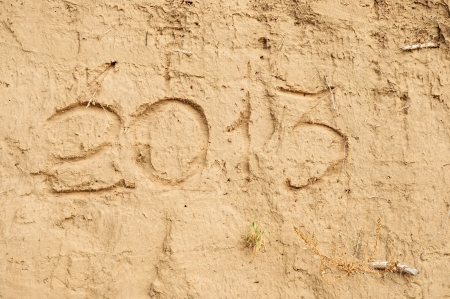 new year sand calendar concept  photo