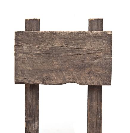 Segno di legno isolato su bianco. Archivio Fotografico - 15280588