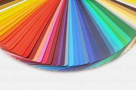 paleta de pintor: Gu�a Paleta de colores para la industria de impresi�n aislada Foto de archivo