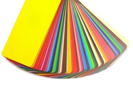 Colore guida colorato su sfondo bianco con spazio di copia Archivio Fotografico - 15387430