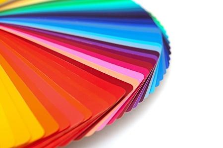 Rainbow kleurenpalet geïsoleerd op wit Stockfoto