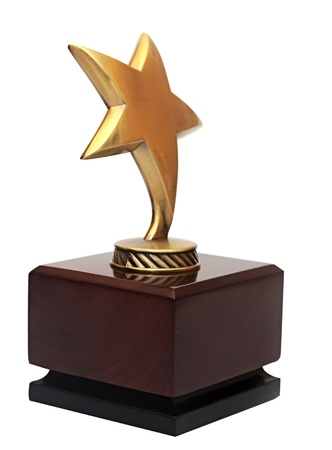 Star award on the white background  Stock Photo - 15400360