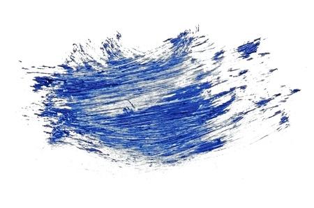 dark blue stroke of the paintbrush isolated on white Stock Photo
