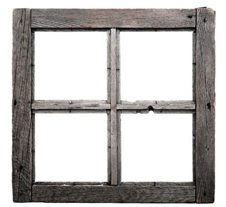 window frame: Old window frame isolated on white background.