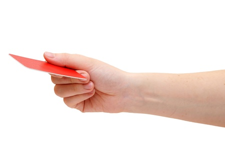 hand holding a business card Stock Photo - 16031834
