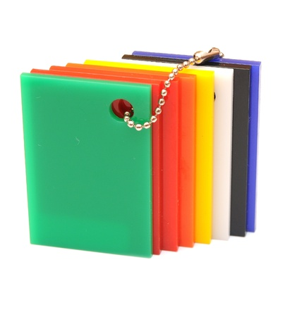 sampler: color sampler glossy palette isolated on white Stock Photo