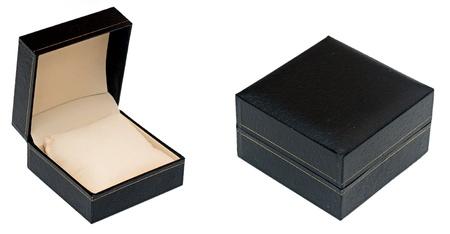 close up of a black box on white background  Archivio Fotografico