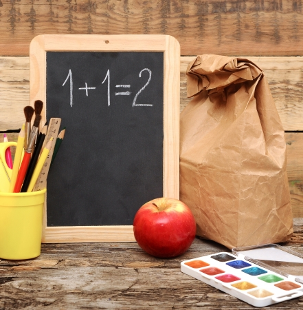 school lunch: Back to school! Education concept!