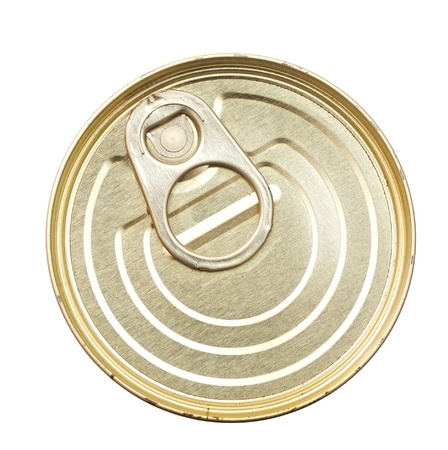 canned goods: canned food isolated on white background  Stock Photo