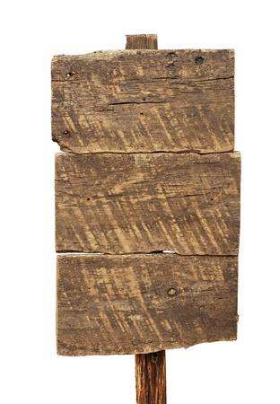 Segno di legno isolato su bianco Archivio Fotografico - 16664125